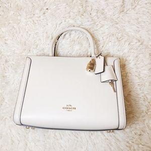 NWT COACH White Leather Satchel Bag